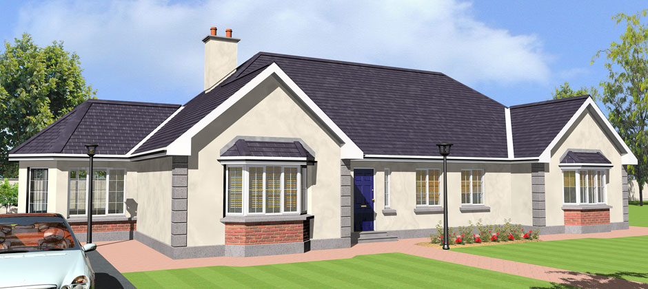 Bungalow house plans ireland floor plans for Irish house plans