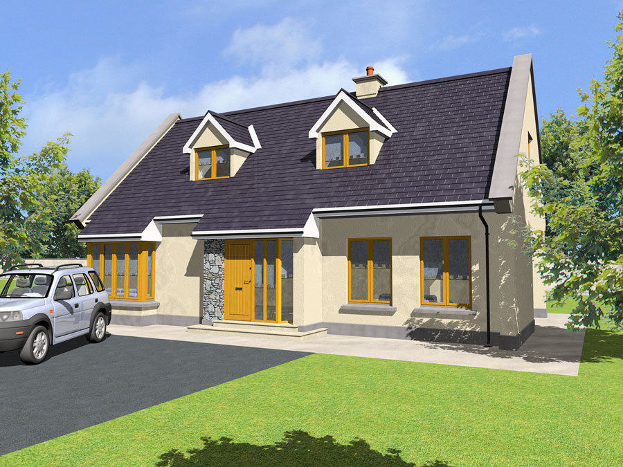House plans and design house plans ireland dormer for Irish farmhouse plans